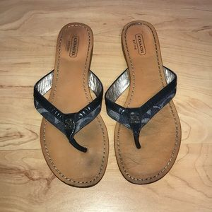 Coach size 8 slippers